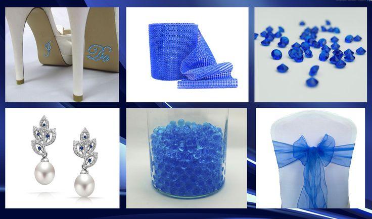 Dekorere dit bryllup med vores smukke blå elementer. #kongeblå #bryllup #dekorere