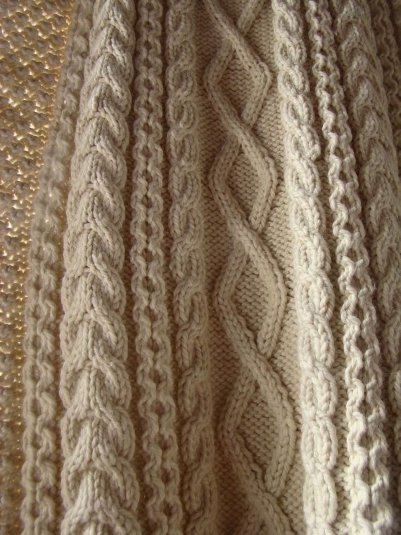 Fall Wedding  Long Celtic Cable Stole/Shawl by AtelierLuneDeNacre, €698.00