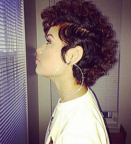 curly mohawk for black women