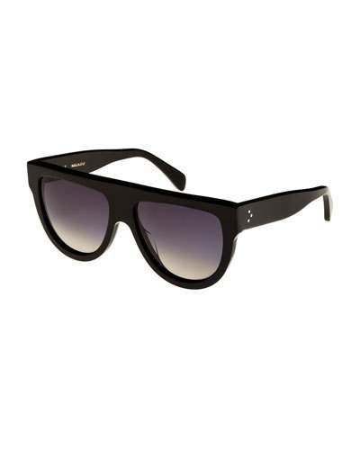 dcf104b114b Celine Flattop Gradient Shield Adjusted-Fit Sunglasses