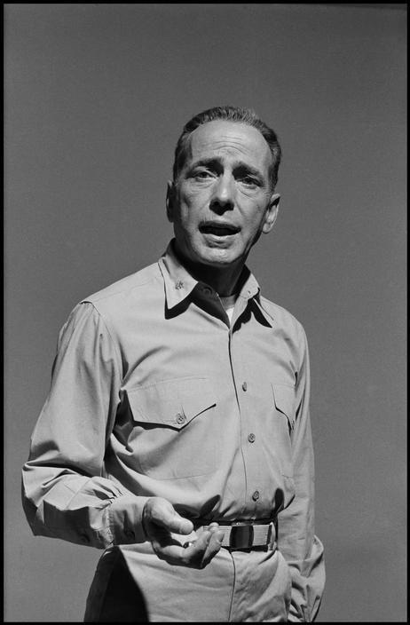 "Filming of ""The Caine Mutiny""  ~ Humphrey Bogart. 1954 ~ (Dennis Stock)"
