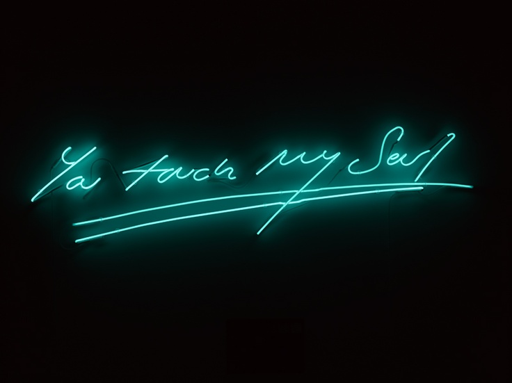 Tracey Emin, You touch my soul, 2012 (I promise to love you, Times Square installation, NYC, February 2012)