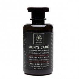 MENS CARE Hair & Body Wash with cardamom & propolis.Practical hair and body wash that gently cleanses both hair and body without causing irritations to the skin and scalp, while providing antiseptic action and revitalizing. Read more at www.apivita.com