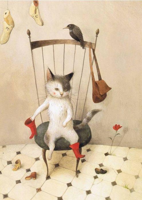 Les 90 meilleures images du tableau le chat bott sur pinterest le chat bott chats et - Dessin chat botte ...