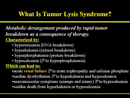 tumor lysis syndrome - Google Search