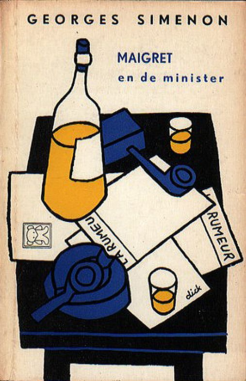 Maigret en de minister by Georges Simenon 1954 | cover design Dick Bruna