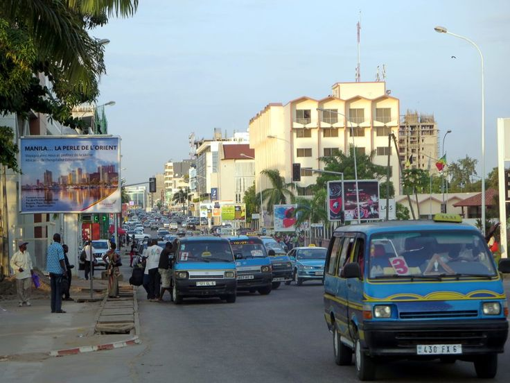 Boulevard du General Charles de Gaulle is the main street of Pointe-Noire, Republic of Congo.