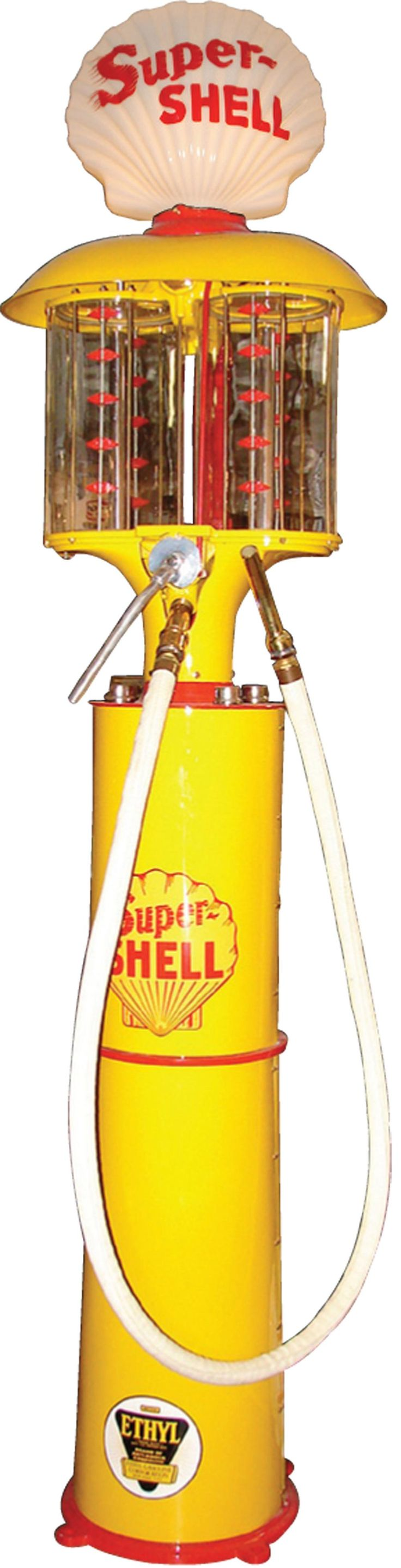 Museum quality 1924 Shell Oil Fleckenstein Duplex visible gas pump. Truly a once in a lifetime opportunity. - Barrett-Jackson Auction Company - World's Greatest Collector Car Auctions