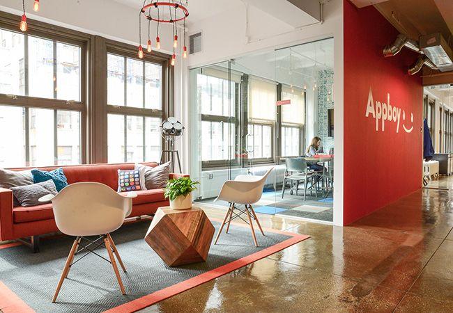 When app gurus, Appboy were looking to #design their Manhattan space, they called in @Homepolish designer, Lauren Shaw #OfficeTour