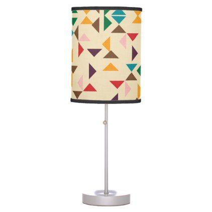 #home #lamps #decor - #Kilim triangle pattern beige desk lamp