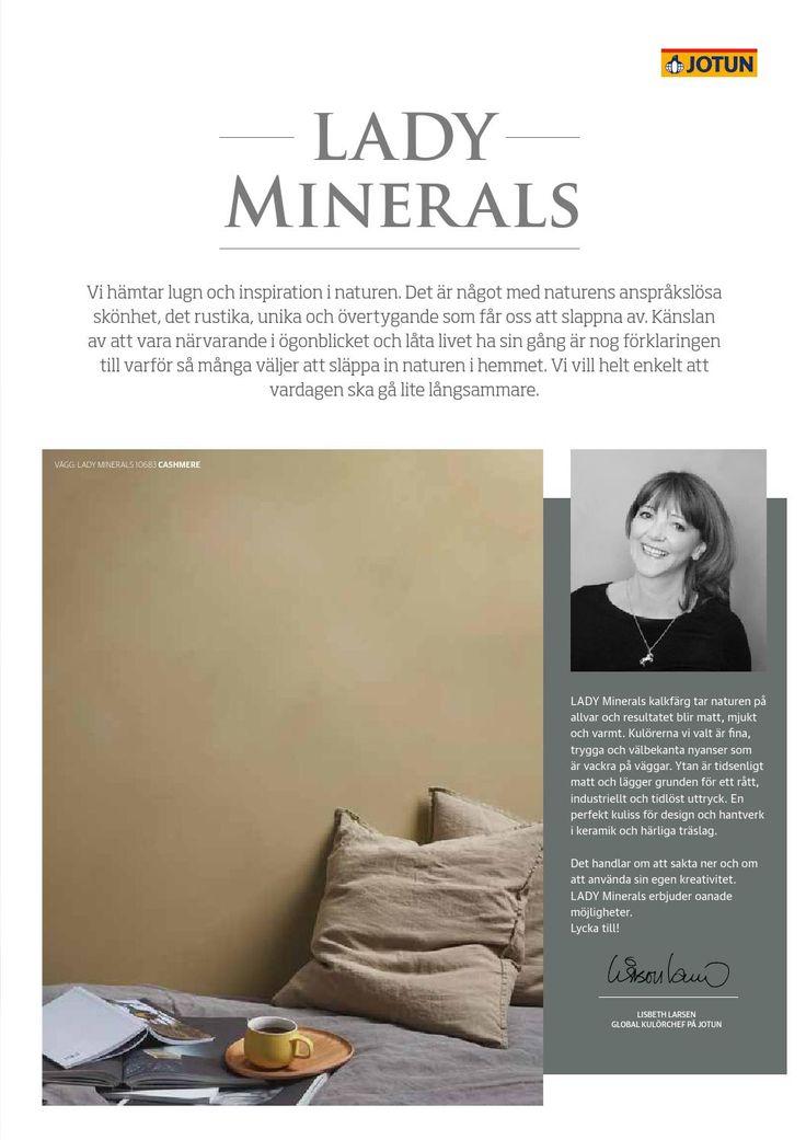 Lady Minerals Kalkfärg by Jotun Sverige AB - issuu