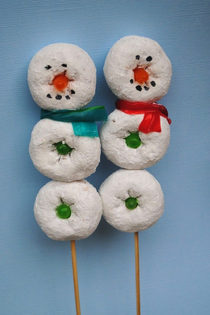 Snowman on a Stick! This would be a cute school party sweet