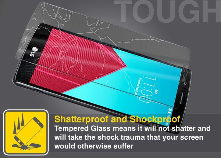 Olixar LG G4 Tempered Glass Screen Protector