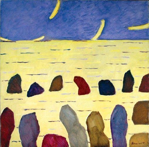Tadeusz DOMINIK (ur. 1928)  Morze Żółte, 2007 olej, plótno, 90 x 90 cm; sygn. p. d.: Dominik;