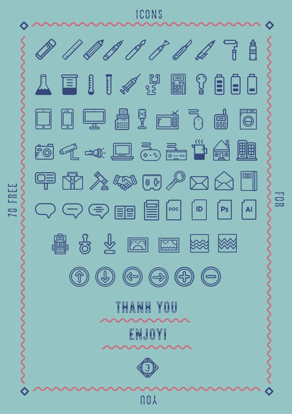Pictograms Giveaway Reloaded by Jamila Hodges, via Behance