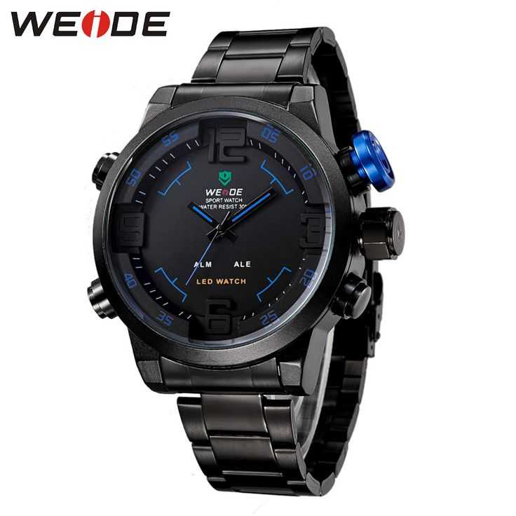 Like and Share if you want this  WEIDE Luxury Brand Men Sport Watches Digital Quartz Dual Movement 30m Waterproof Blue Color Stainless Steel Strap Gift For Men     Tag a friend who would love this!     FREE Shipping Worldwide     Buy one here---> https://shoppingafter.com/products/weide-luxury-brand-men-sport-watches-digital-quartz-dual-movement-30m-waterproof-blue-color-stainless-steel-strap-gift-for-men/