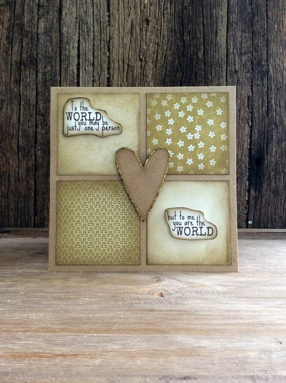Handmade Mother's Day card Rustic Card by Crafting Emotion