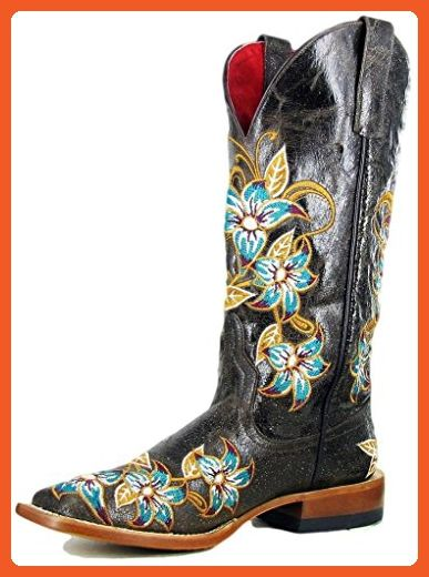 Macie Bean Western Boots Womens Floral Lily-Ana 6.5 B Brown M9034 - Boots for women (*Amazon Partner-Link)