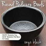 Round Pedicure Bowl / Onyx Black / Durable Resin Material - The New Signature Collection by Noel Asmar <font color=FFFFFF>(PB2011ON)</font>