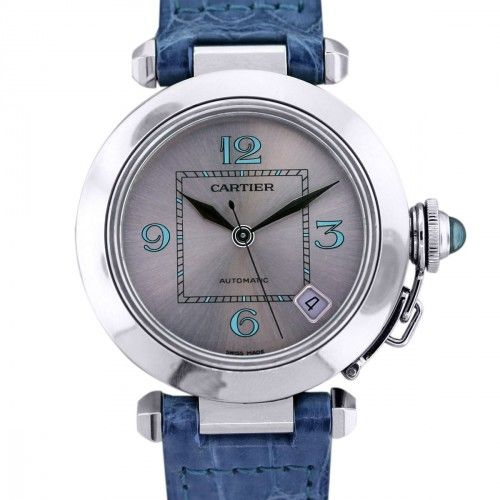 Cartier Pasha C 35MM Watch on Blue Leather Strap