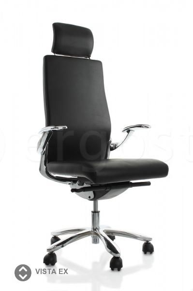 Vista Ex - эргономичное офисное кресло с высокой спинкой и подголовником для работы дома и в офисе