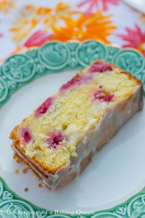 Raspberry Lemon Loaf Cake  www.confessionsofabakingqueen.com