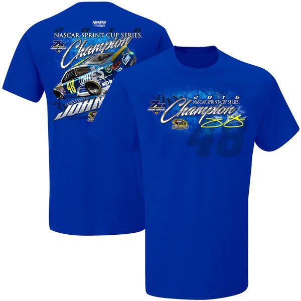Jimmie Johnson 2016 Sprint Cup Champion T-Shirt - Royal - $27.99