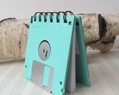 Watermelon Red Recycled Geek Gear Blank Floppy Disk Mini Notebook.