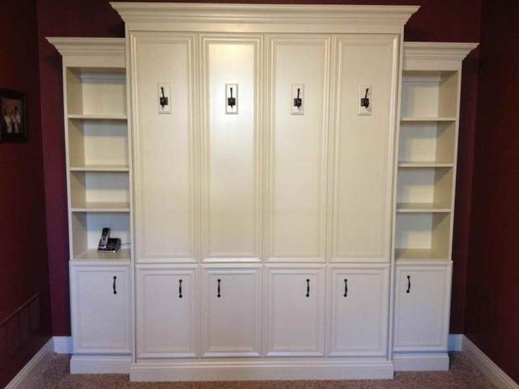 full size murphy bed with white cabinet bed for nursery guest room be my guest. Black Bedroom Furniture Sets. Home Design Ideas