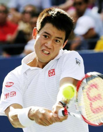 男子シングルスでスタニスラス・ワウリンカを破り、日本選手として96年ぶりに4強入りを決めた錦織圭=3日、ニューヨーク(共同) ▼6Sep2014共同通信|錦織、ジョコビッチと準決勝 四大大会初の決勝目指す http://www.47news.jp/CN/201409/CN2014090601001418.html #US_Open_Tennis_2014 #Kei_Nishikori