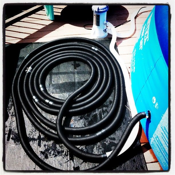 Expecting the Unknown...: DIY Solar Pool Heater!