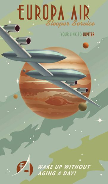 Faux Vintage Travel Posters Invite You To Tour The Solar System