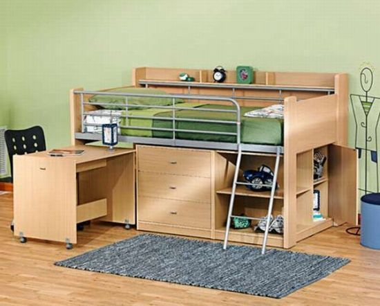 building a loft bed to maximize spacelower than typical bunk