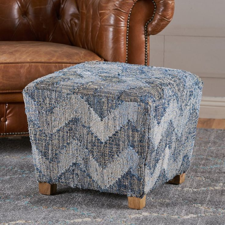 Best Selling Home Hobson Multi Colored Fabric Ottoman - 300920