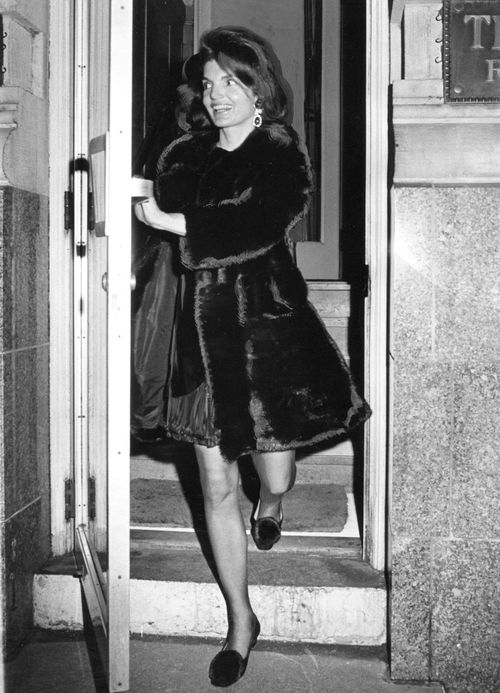 Jacqueline Kennedy Onassis - 1969. What we need to talk about is how similar her shoes are to TOMS!!!!!!!!!