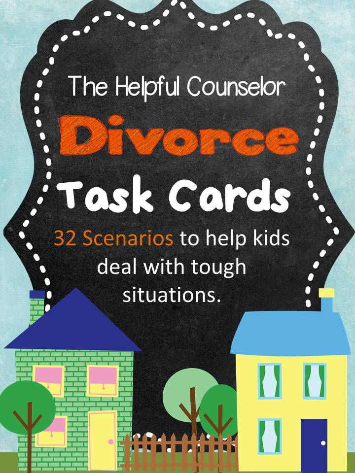 Divorce Task Cards - 32 Unique Situations 50% off for 48 hours! $