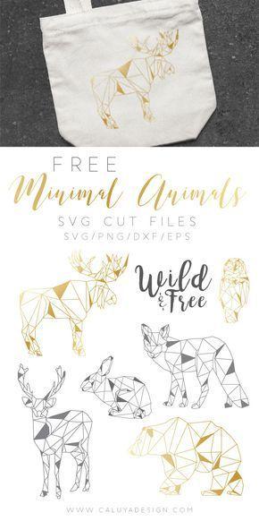 KOSTENLOSE Minimal Animals SVG Cut Datei (DXF, EPS & PNG) von Caluya Design