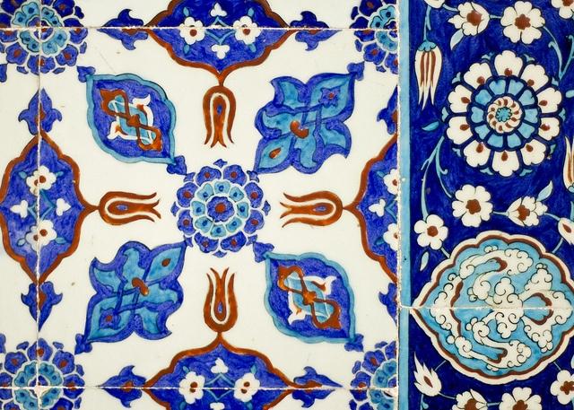 Tiles of the Rüstem Paşa Mosque, Istanbul.