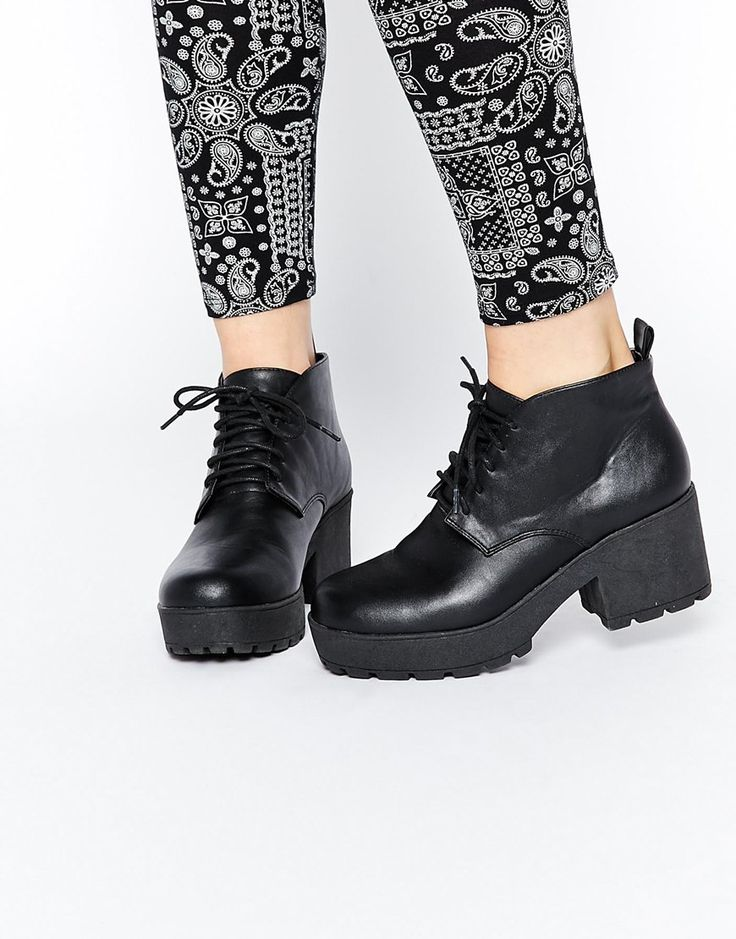 ASOS RAQUET Chunky Lace Up Ankle Boots