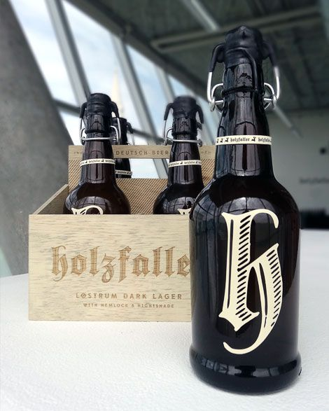 Holzfaller, which means 'woodsman' in German, is a beer branding project/collaboration with the very talented writer, Claire Arkin.
