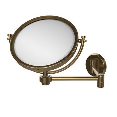 Allied Brass Universal Extendable Mirror Magnification: 3x, Finish: Brushed Bronze