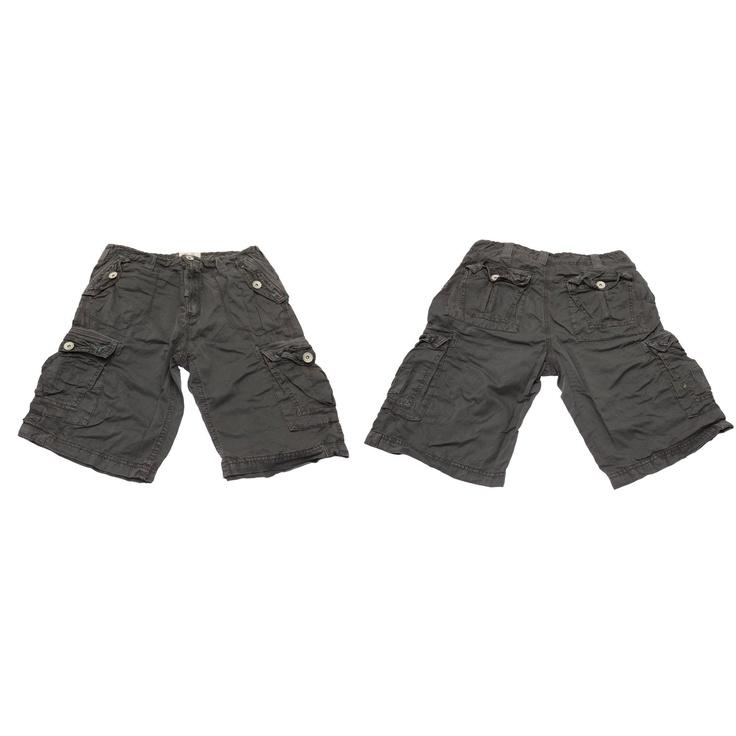 Brave Soul Kids Boys Plain 100% Cotton Summer Cargo Shorts