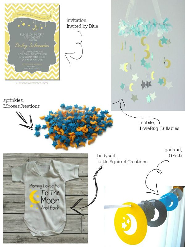 moon and stars baby shower theme inspiration baby by blue