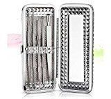 Pimple Popping Kit,Molie Acne Tweezers Pimple Killer Comedone Extractor Tool Facial Treatment 5 Pcs Stainless Steel