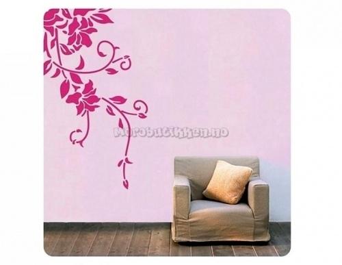 Wallstickers-Veggdekor-Blomster-Artistic flower 8