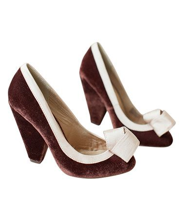 Look what I found on #zulily! Velvet Marion Pump - Women #zulilyfinds