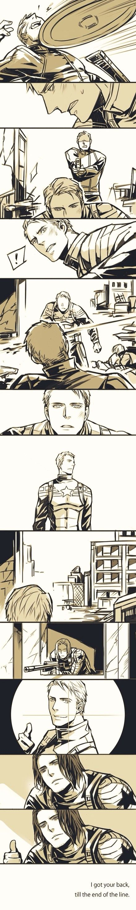 Captain America and Bucky comic