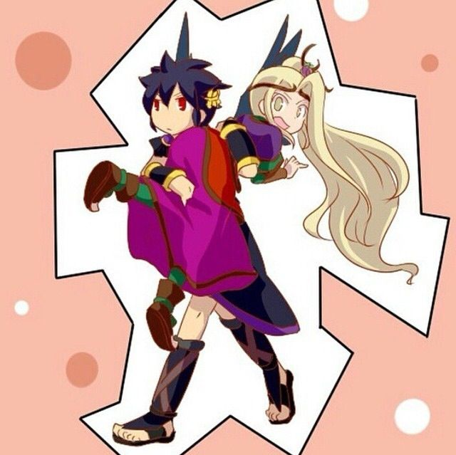Dark Pit and Viridi I don't ship this couple but this photo was cute :3