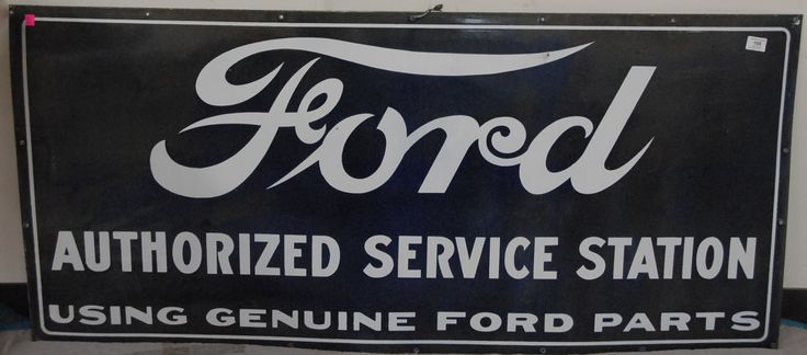 "Porcelain FORD sign, marked on back Pem Co., 27"" x 60"". - Realized Price: $4,080.00"
