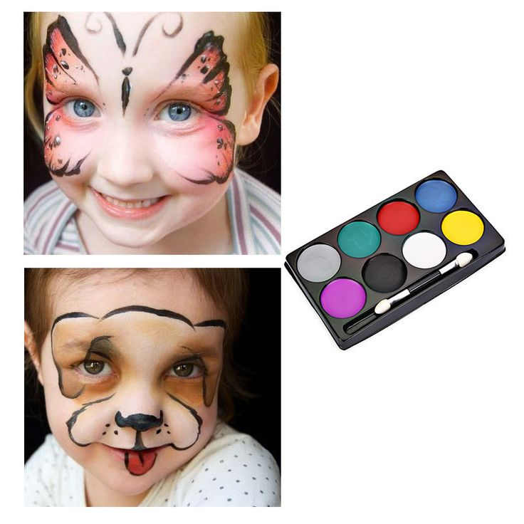 Fashion Flash Tattoo Face Body Paint Oil Painting Art Non-toxic Water Paint Oil  #Unbranded